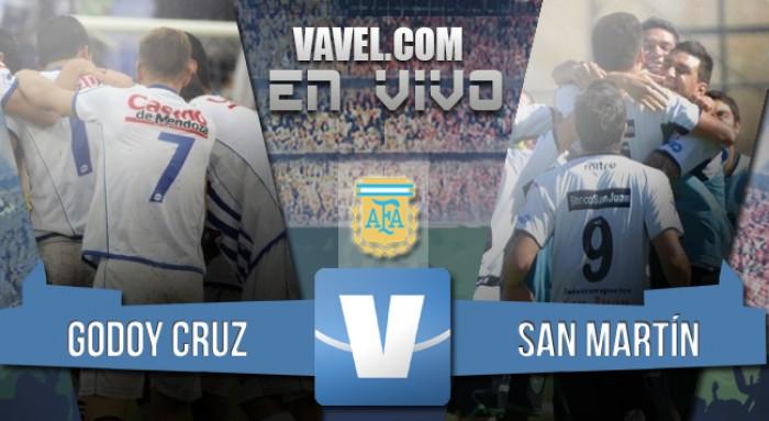 Resultado Godoy Cruz 1-0 San Martín de San Juan en el Clásico de Cuyo 2016