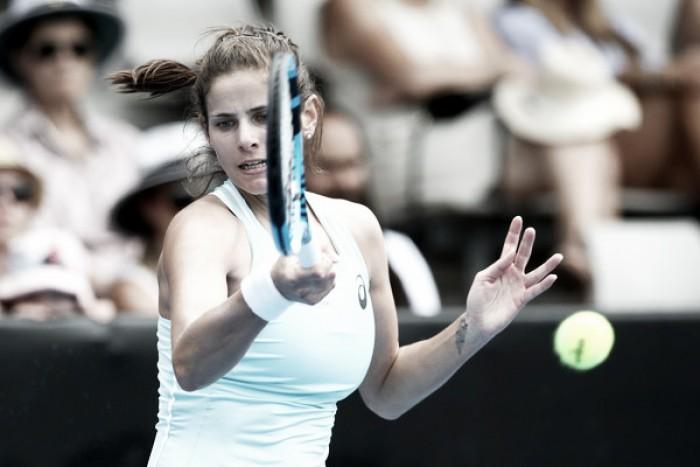 Goerges extiende su racha y vence a Wozniacki en Auckland