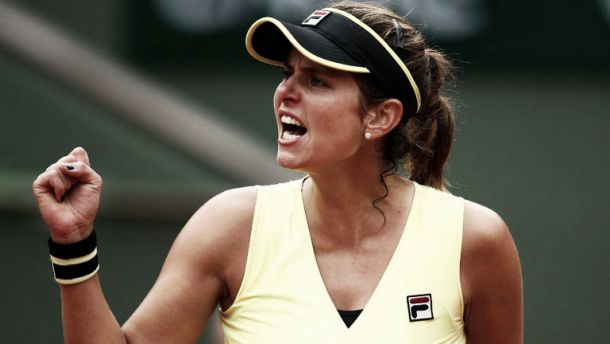 French Open: Julia Goerges sinks World no.5 Caroline Wozniacki