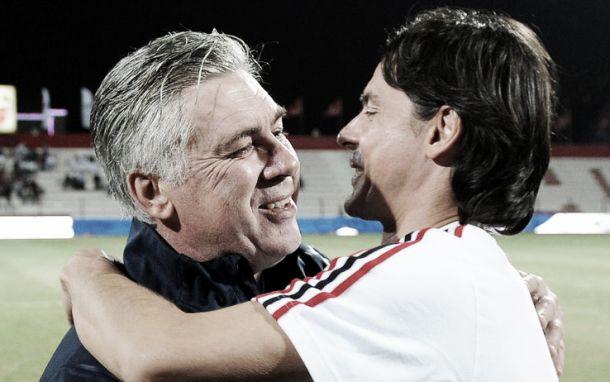 "Emirates Challenge, Ancelotti: ""Bello affrontare il Milan con Inzaghi in panchina"""