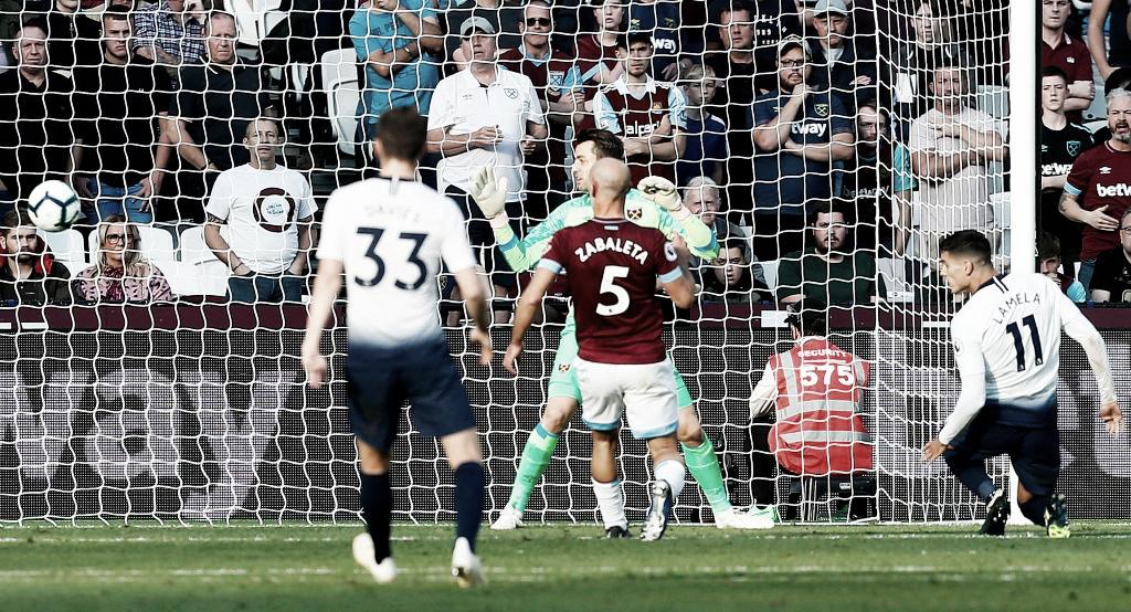 Tottenham vence West Ham e se apróxima no líder da Premier League