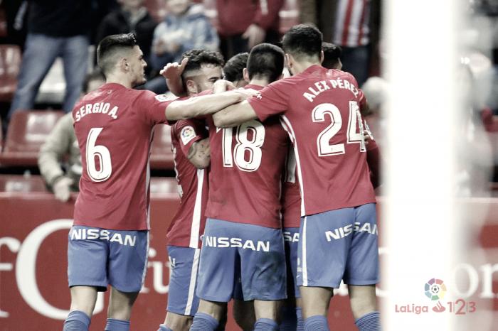 Sporting - Alcorcón, un partido redondo