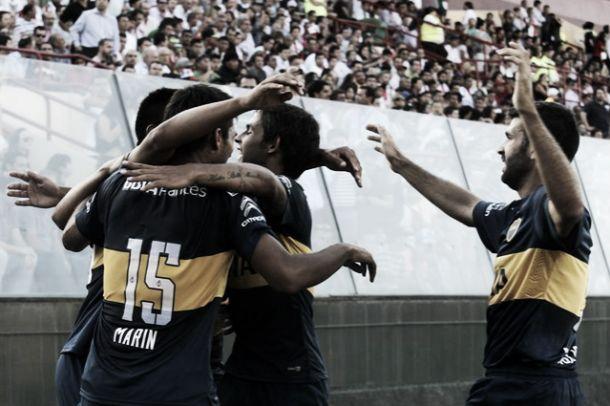 Boca pisó fuerte en suelo chileno