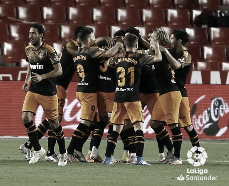 Puntuaciones del Valencia en su empate frente al Granada