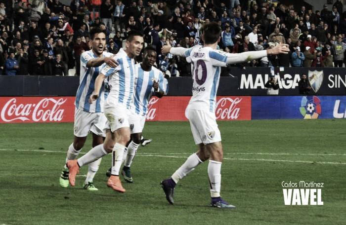 Juanpi, Atsu y Charles, los goleadores del Málaga contra el Getafe