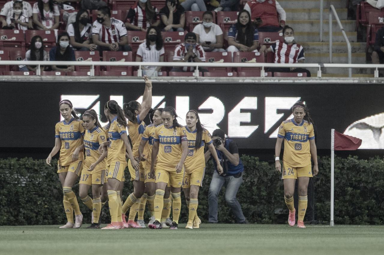 Greta Espinoza da ventaja a Tigres en la final ante Chivas