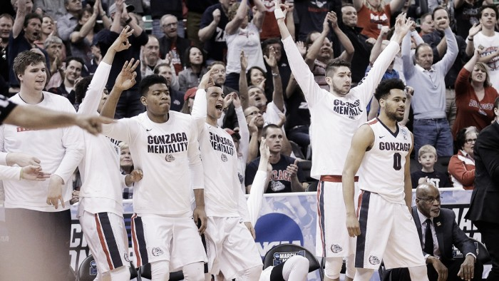 NCAA Tournament: Gonzaga Bulldogs overcomes slow start to top South Dakota State Jackrabbits 66-46