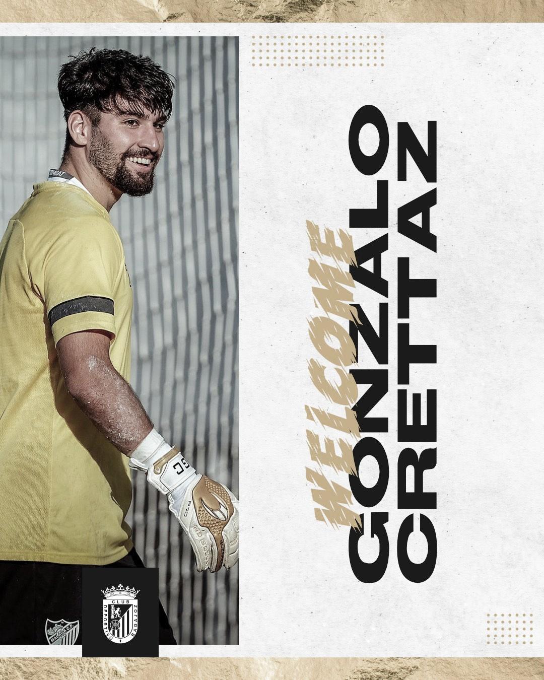 Gonzalo Crettaz será el portero Sub-23 del CD Badajoz esta temporada