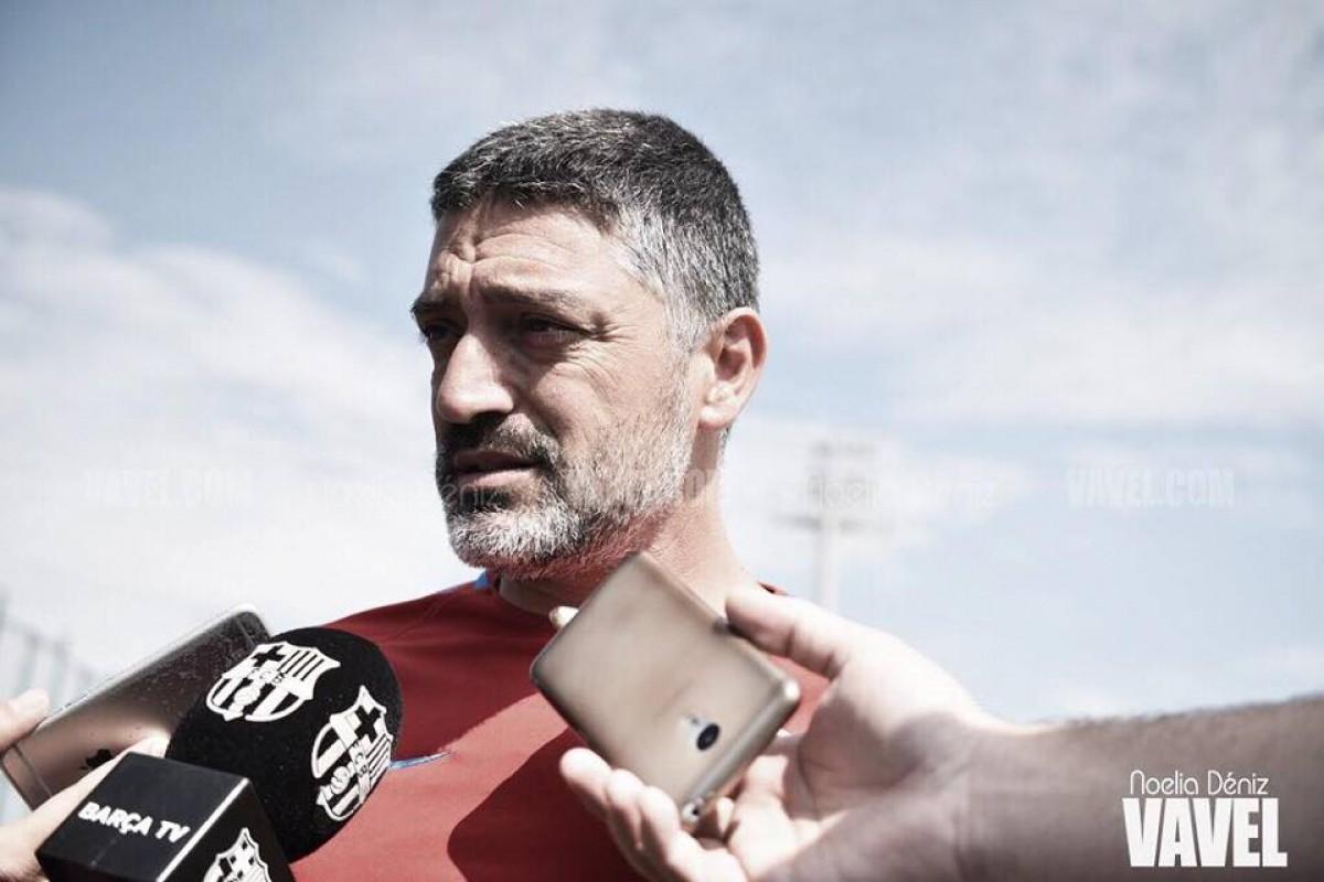 """García Pimienta: """"Nuestra intención es formar jugadores para el primer equipo"""""""