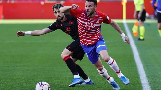 Previa Granada CF - Real Sociedad: acompañar la imagen con el resultado