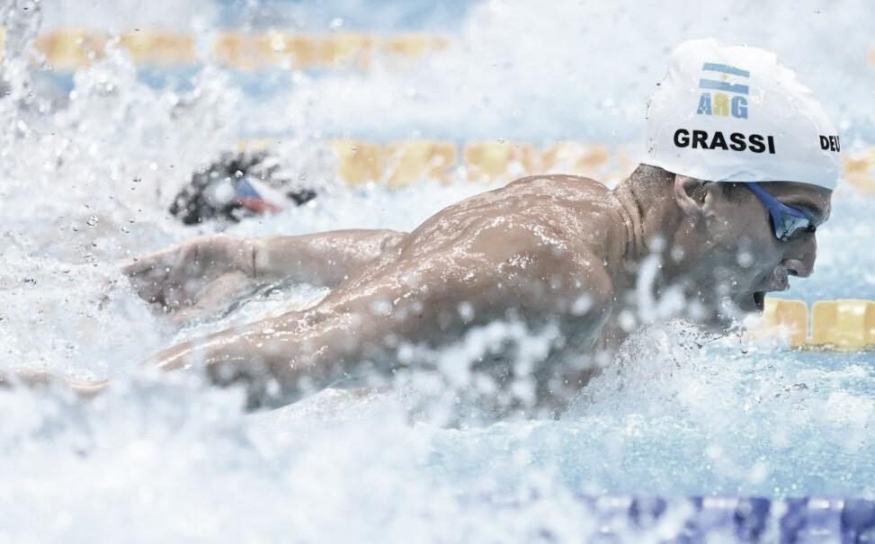 Natación: Grassi no pudo meterse en las semifinales de los 50m libres