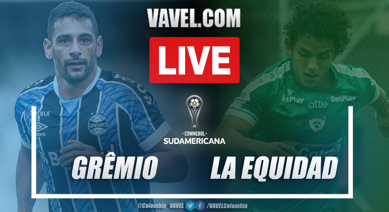 Resumen Grêmio vs La Equidad (2-1) en la fecha 1 del grupo H por Copa Sudamericana 2021