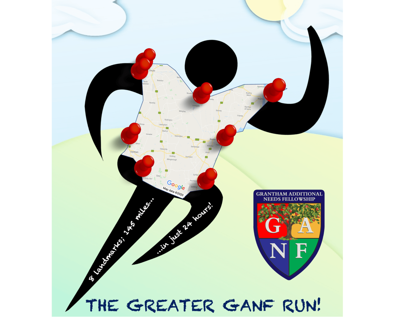 8 landmarks, 145 miles, 24 hours: The Greater GANF Run!