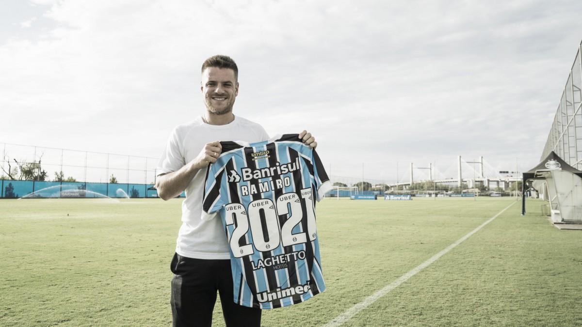 Com 217 jogos pelo Grêmio, Ramiro estende contrato até dezembro de 2021