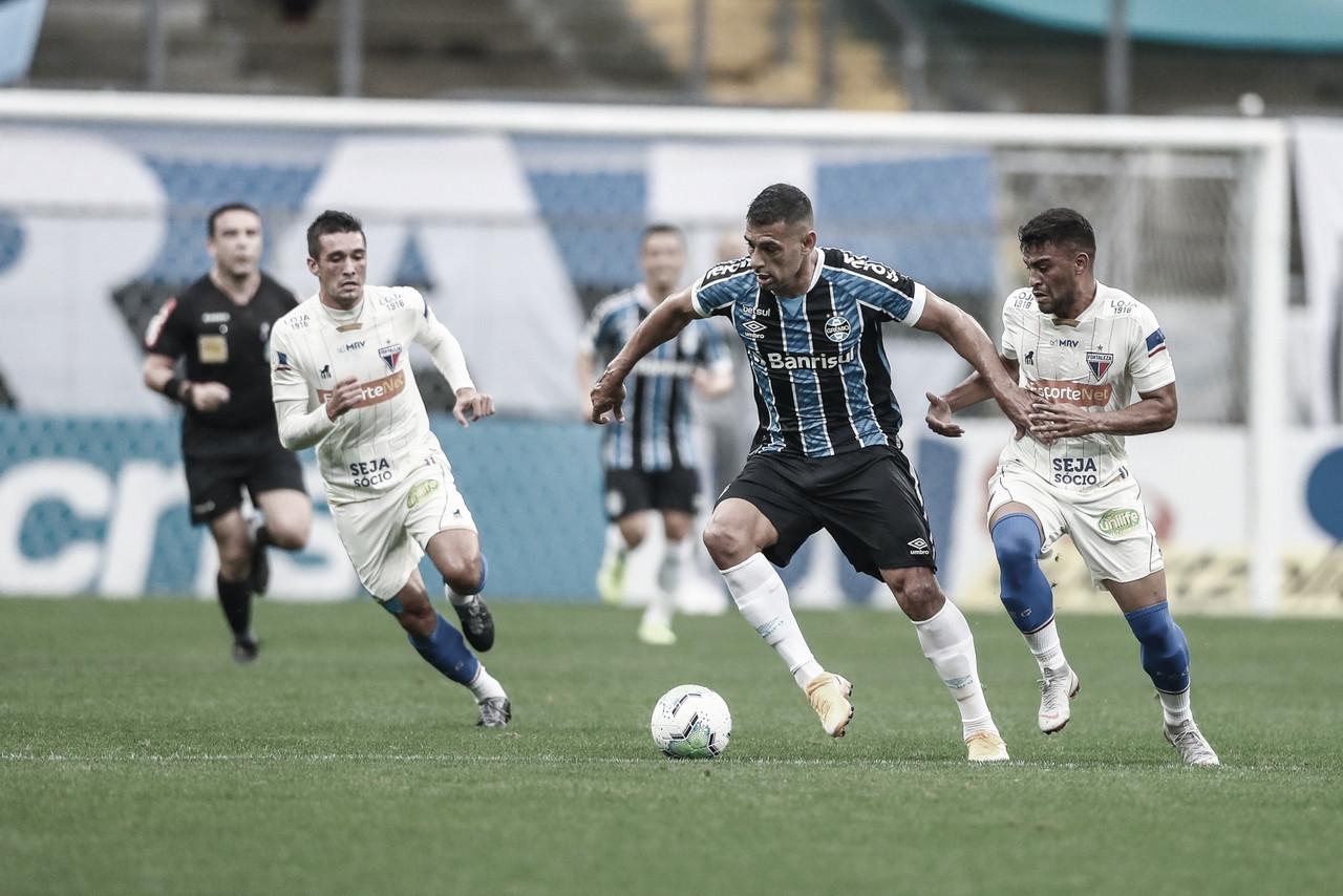 Grêmio sai atrás contra Fortaleza, mas consegue empate após pênalti