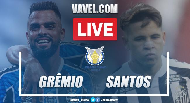 Gols e melhores momentos de Grêmio 3 x 3 Santos pelo Campeonato Brasileiro