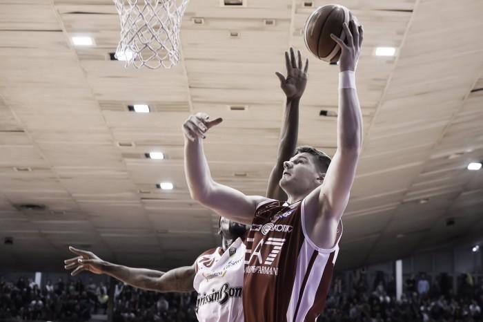 LegaBasket Serie A - Milano vince a Reggio e riaggancia il secondo posto (71-72)