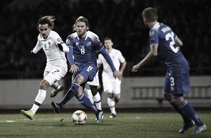 Em jogo duro, França vence Islândia nas Eliminatórias para a Euro