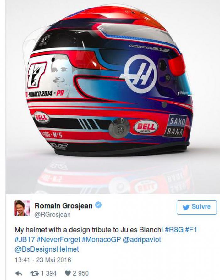 Mônaco, Grosjean e a homenagem e a Jules Bianchi