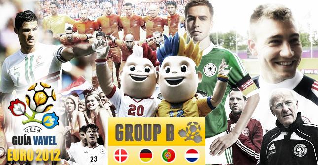 Grupo B de la Eurocopa: Holanda, Dinamarca, Alemania y Portugal