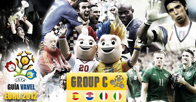 Grupo C de la Eurocopa: España, Italia, Irlanda y Croacia