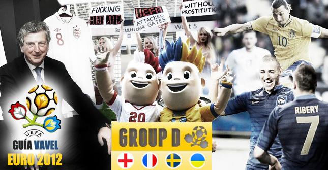 Grupo D de la Eurocopa: Inglaterra, Francia, Ucrania y Suecia