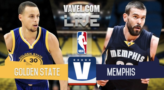Live: Golden State Warriors - Memphis Grizzlies and score of NBA (125-104 Golden State)