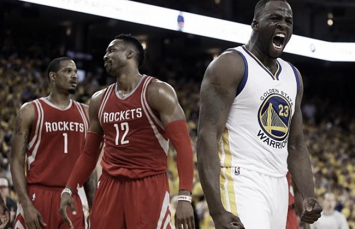 NBA: Golden State domina senza Curry, vinta la serie contro i Rockets (114-81)