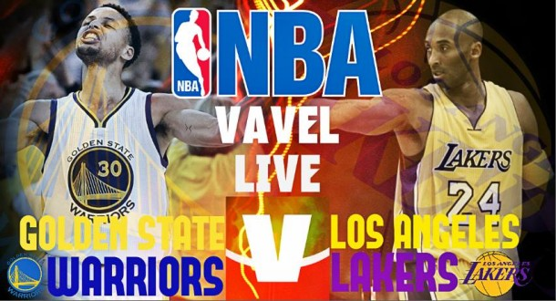 Golden State Warriors Vs Los Angeles Lakers in diretta, NBA 2015/2016 Live (16-7)