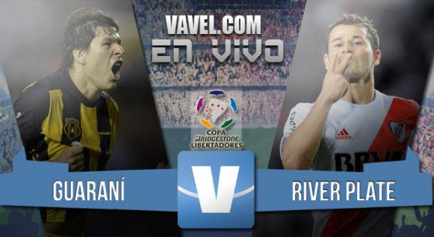 Resultado partido Guaraní - River plate en semifinal de la Copa Libertadores 2015 (1-1)