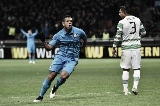 Liga Europa: Inter bate Celtic e encontra Wolfsburgo nos 'oitavos'