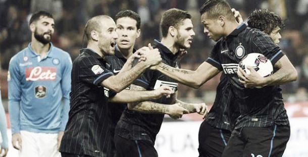 Guarín entró y marcó en un candente Inter - Napoli