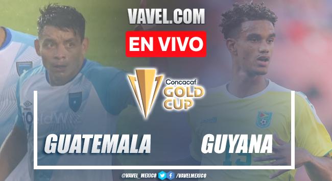 Goles y resumen del Guatemala 4-0 Guyanaen Eliminatorias Copa Oro 2021