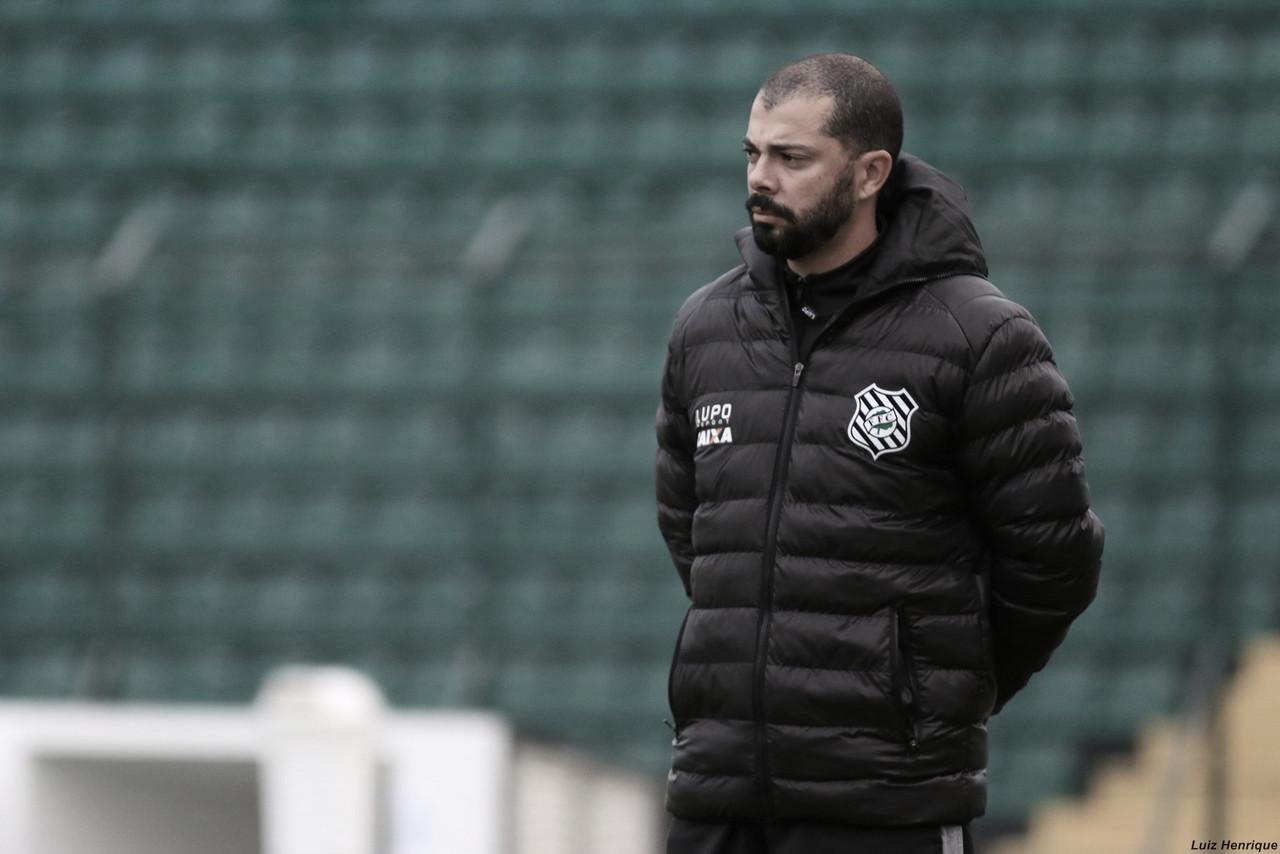 Técnico do Figueirense admite superioridade de Bragantino e cita continuação de trabalho