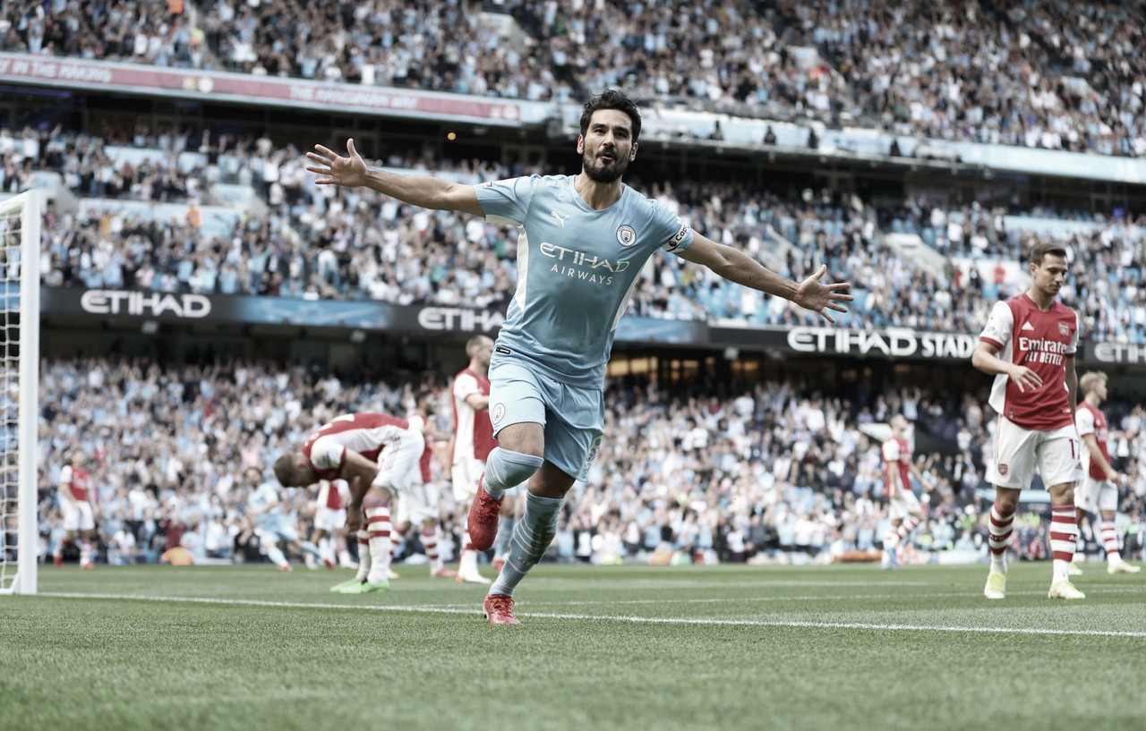 Manchester City domina e atropela Arsenal no Etihad Stadium