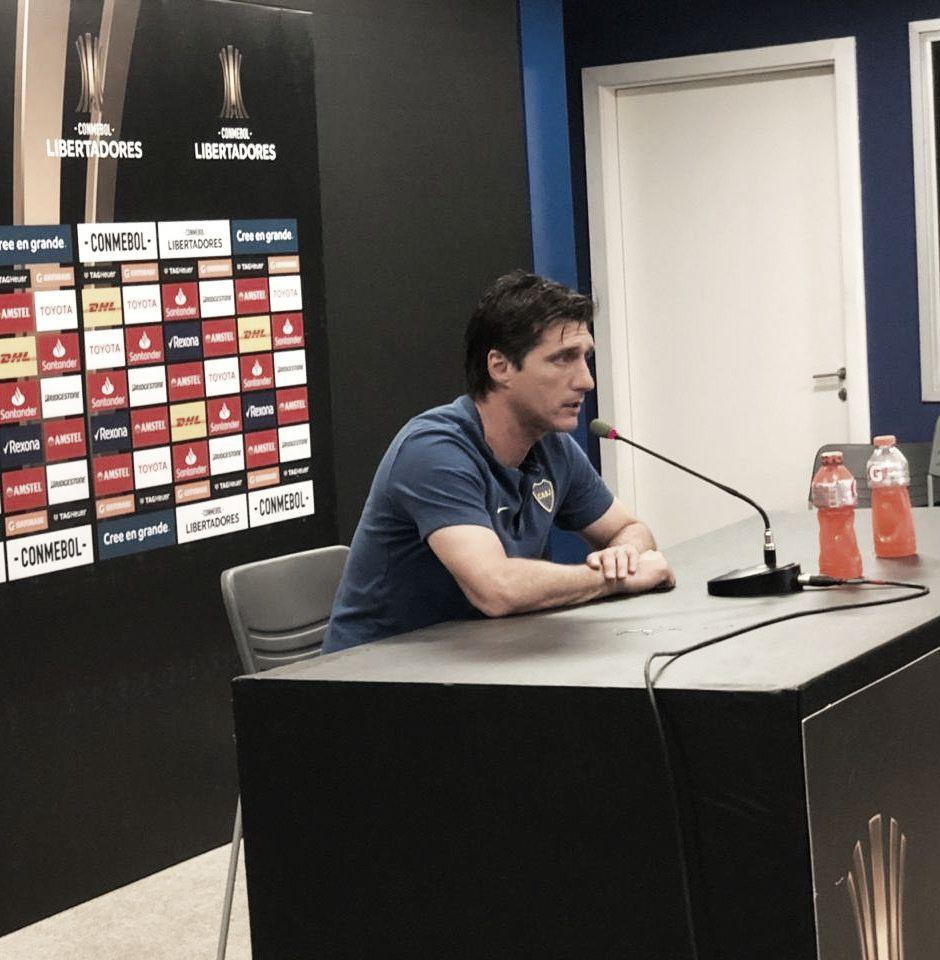"""Gustavo Barros Schelotto: """"Estamos contentos porque clasificamos a la final"""""""