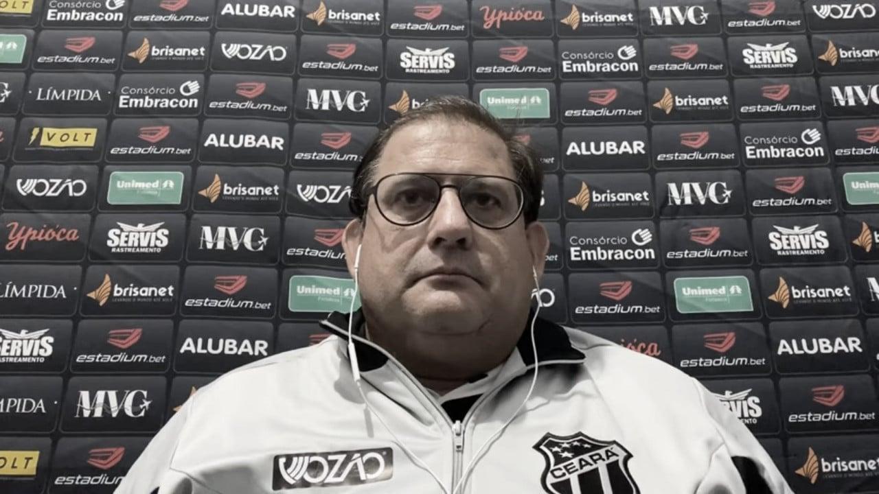 "Guto Ferreira elogia postura do Ceará contra Brusque: ""Equipe atenta e focada"""