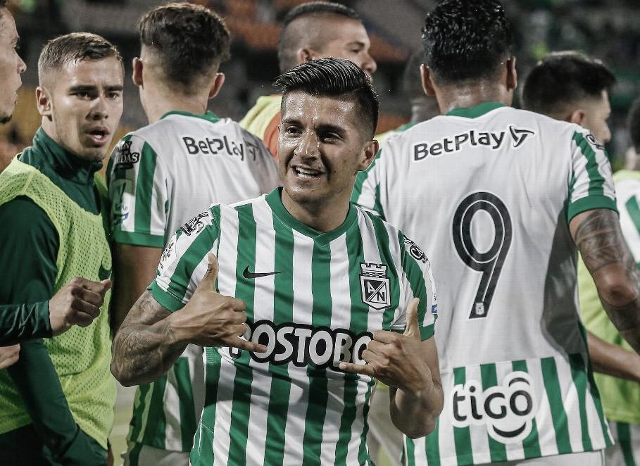 Yeison Guzmán, el jugador destacado de Atlético Nacional ante Águilas Doradas