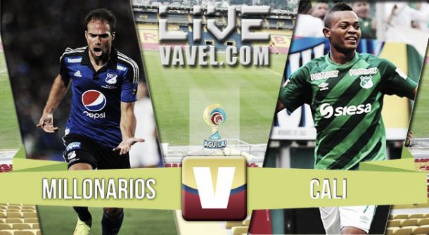 Resultado Millonarios - Deportivo Cali en la Liga Águila 2015 (3-2)