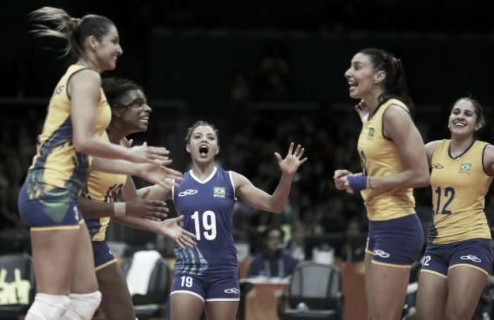 Brasil vence Coréia do Sul com facilidade e segue 100% no vôlei feminino