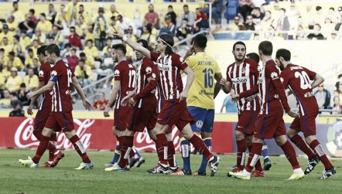 Liga, l'Atletico Madrid passa anche sul Las Palmas: 3-0 firmato dalla coppia Filipe Luis - Griezmann