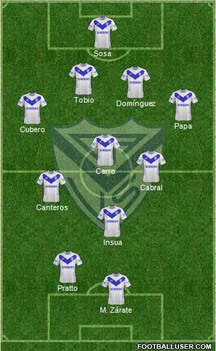 Vélez Sarsfield 4-3-1-2 football formation
