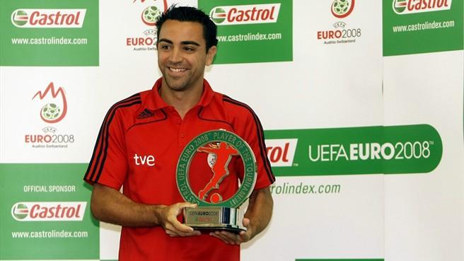 Su primer éxito con la selección fue la Eurocopa 2008, además también fue nombrado mejor jugador del torneo. (Fuente: Uefa).