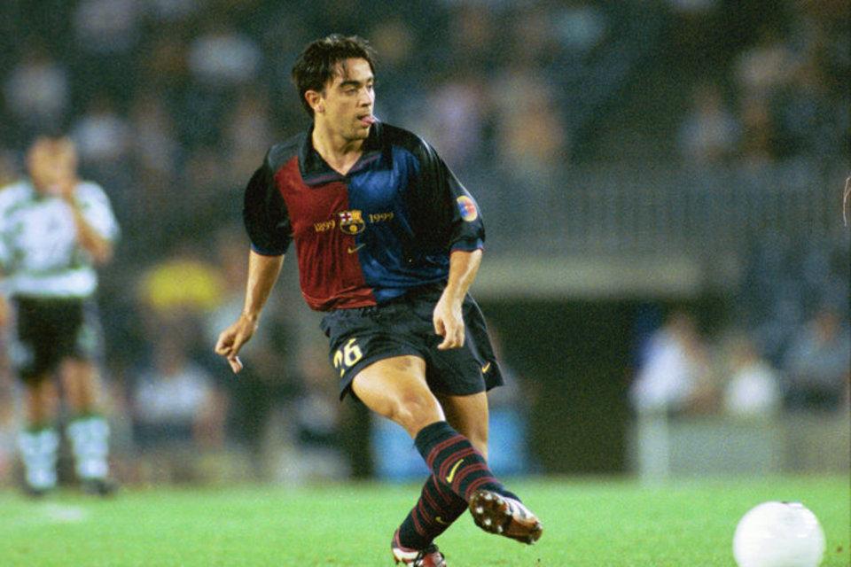 Xavi en uno de sus primeros partidos en el Camp Nou (Fuente: Mundo Deportivo).