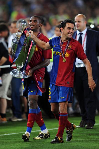 Celebrando su segundo Champions League, la primera en la que disputó la final.  (Fuente: Zimbio).