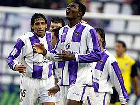 Makukula, delantero del Real Valladolid
