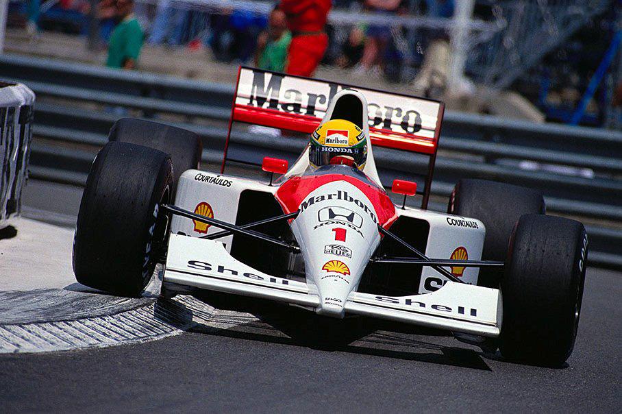 Ayrton Senna rueda en las calles de Mónaco | Foto: oppositelock.jalopnik.com