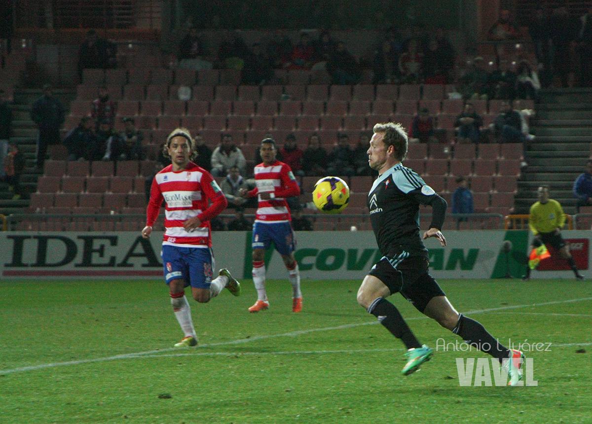 Krohn-Dehli abandonó el extremo para jugar todo el año por el interior.   (Foto: Antonio L. Juárez   Vavel.com)