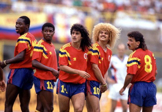 Freddy Rincón, Bernardo Redín, Leonel Álvarez, Carlos Valderrama y Gabriel Jaime Gómez. Foto: Deportes Terra.