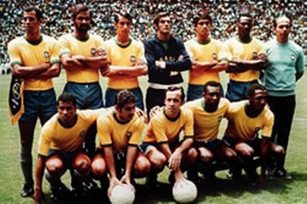 The 1970 squad that featured Pele, Rivelino, Jairzinho and Carlos Alberto.
